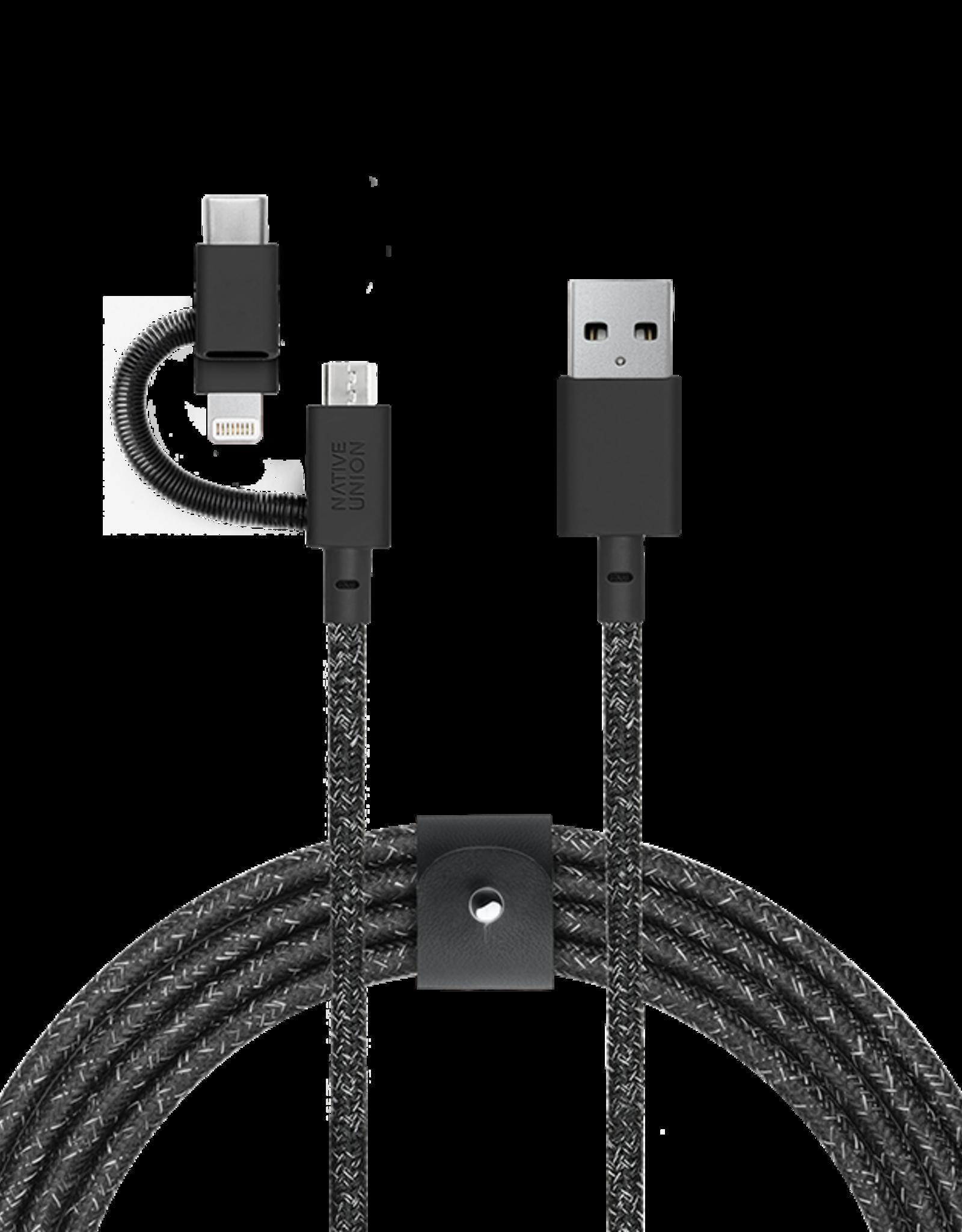 Native Union /// Native Union | Belt Universal Cable Cosmos | BELT-KV-ULC-CS-BLK