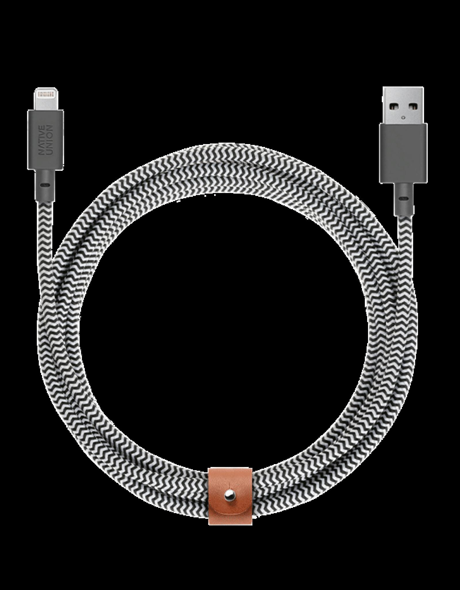 Native Union Native Union | Belt Cable - Zebra | CABLE-L-ZEBRA-LARGE (3M)
