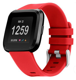 StrapsCo | RUBBER STRAP FOR FITBIT VERSA Red Small | fb.r31.6.m