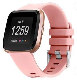 StrapsCo | Quick Release Rubber Strap Fitbit Versa Pink Small | fb.r31.13.m