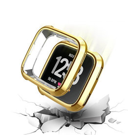 StrapsCo | Silicone Case for Fitbit Versa (Gold) | fb.pc9.10