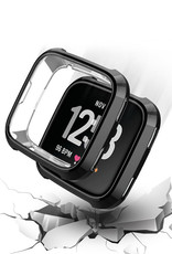 StrapsCo StrapsCo | Silicone Case for Fitbit Versa (Black) | fb.pc9.1