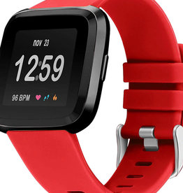 StrapsCo | RUBBER STRAP FOR FITBIT VERSA Red Large