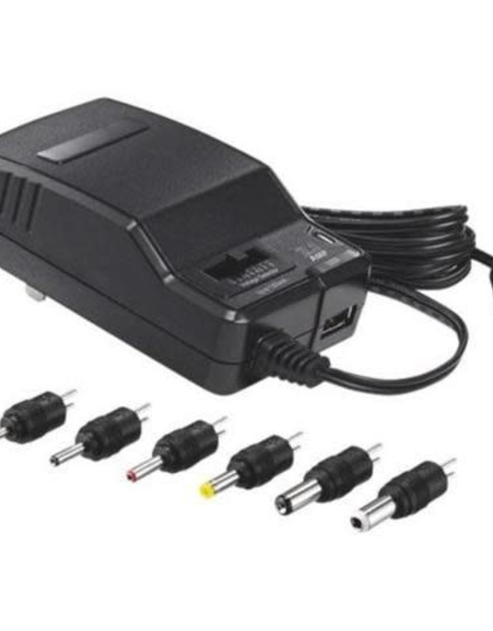 SO Insignia Universal AC Adapter with USB port NS-AC1200-C