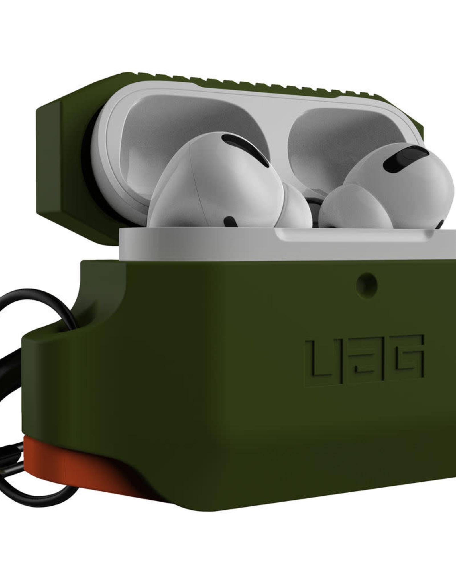 UAG UAG - Silicone Case Olive Drab/Orange for Apple AirPods Pro 120-2735