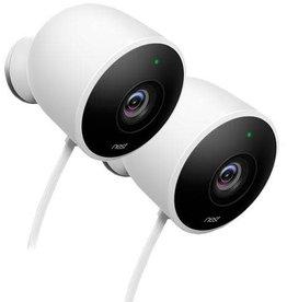Google Google Nest Cam Outdoor white smart home security camera - 2 Pack 15-04992