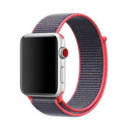 StrapsCo | Nylon Band For iWatch 42mm/44mm Red/Grey A.NY3.6.7.42