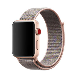 StrapsCo | Nylon Band For iWatch 42mm/44mm Pink/Grey A.NY3.13.7.42