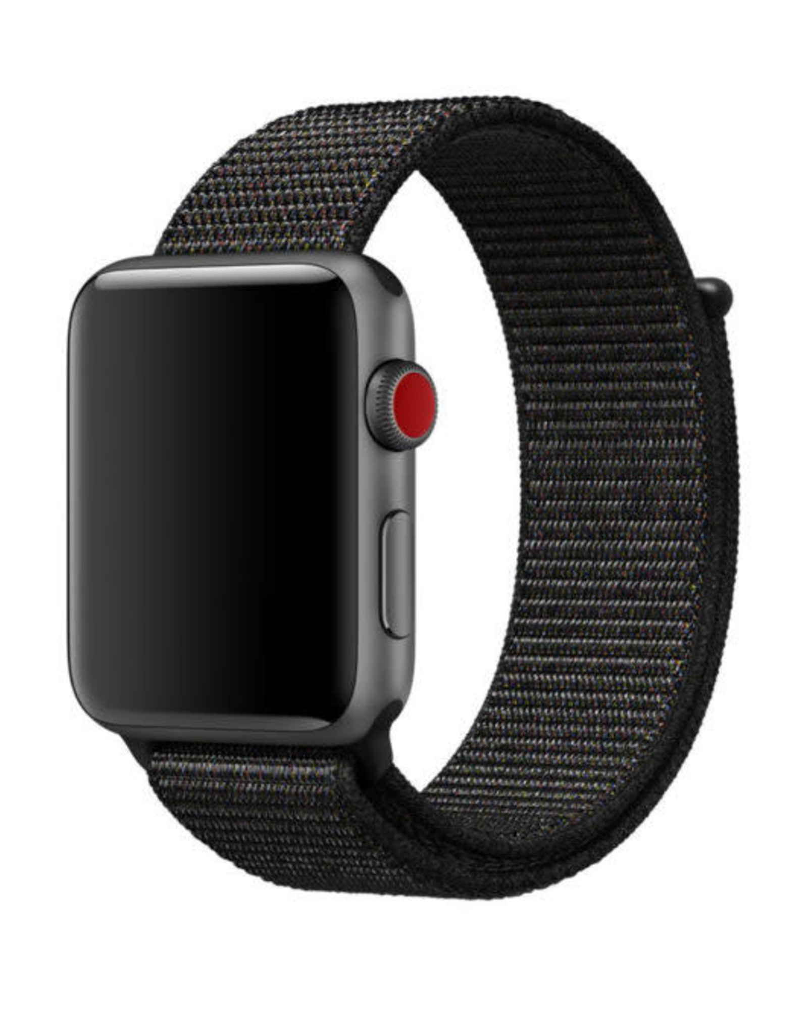 StrapsCo | Nylon Band For iWatch 42mm/44mm Black A.NY3.1.42