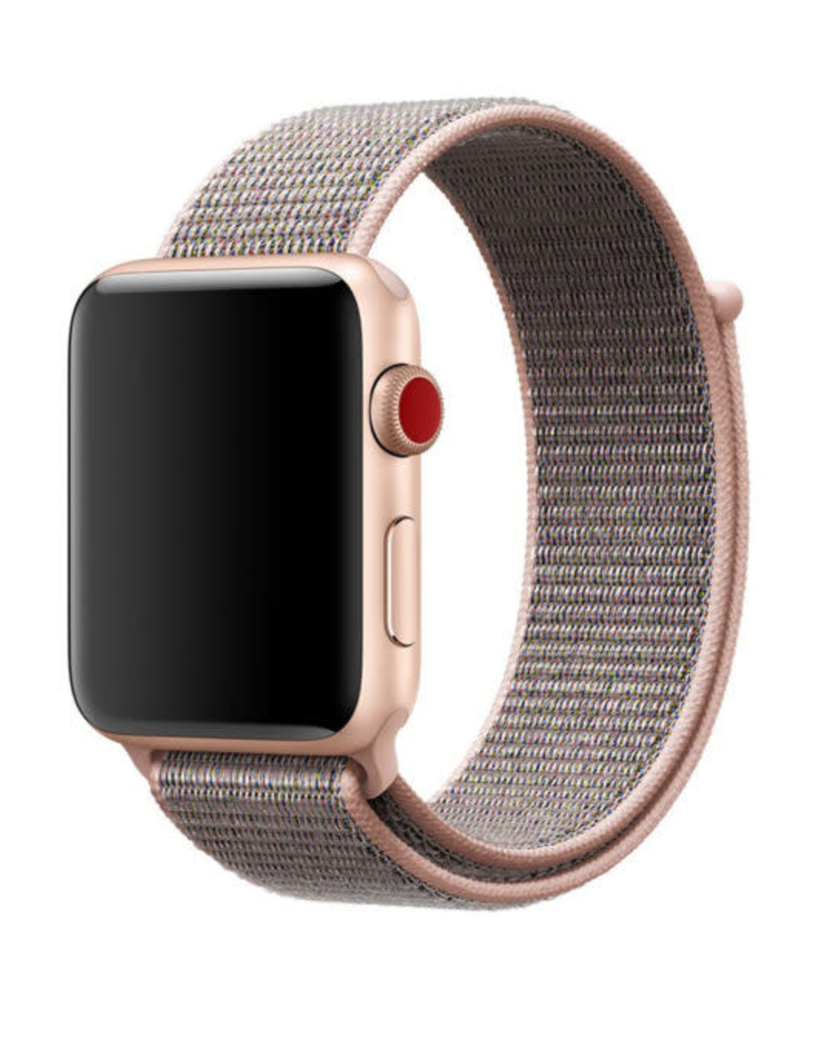 StrapsCo | Nylon Band For iWatch 38mm/40mm Pink/Grey  A.NY3.13.7.38