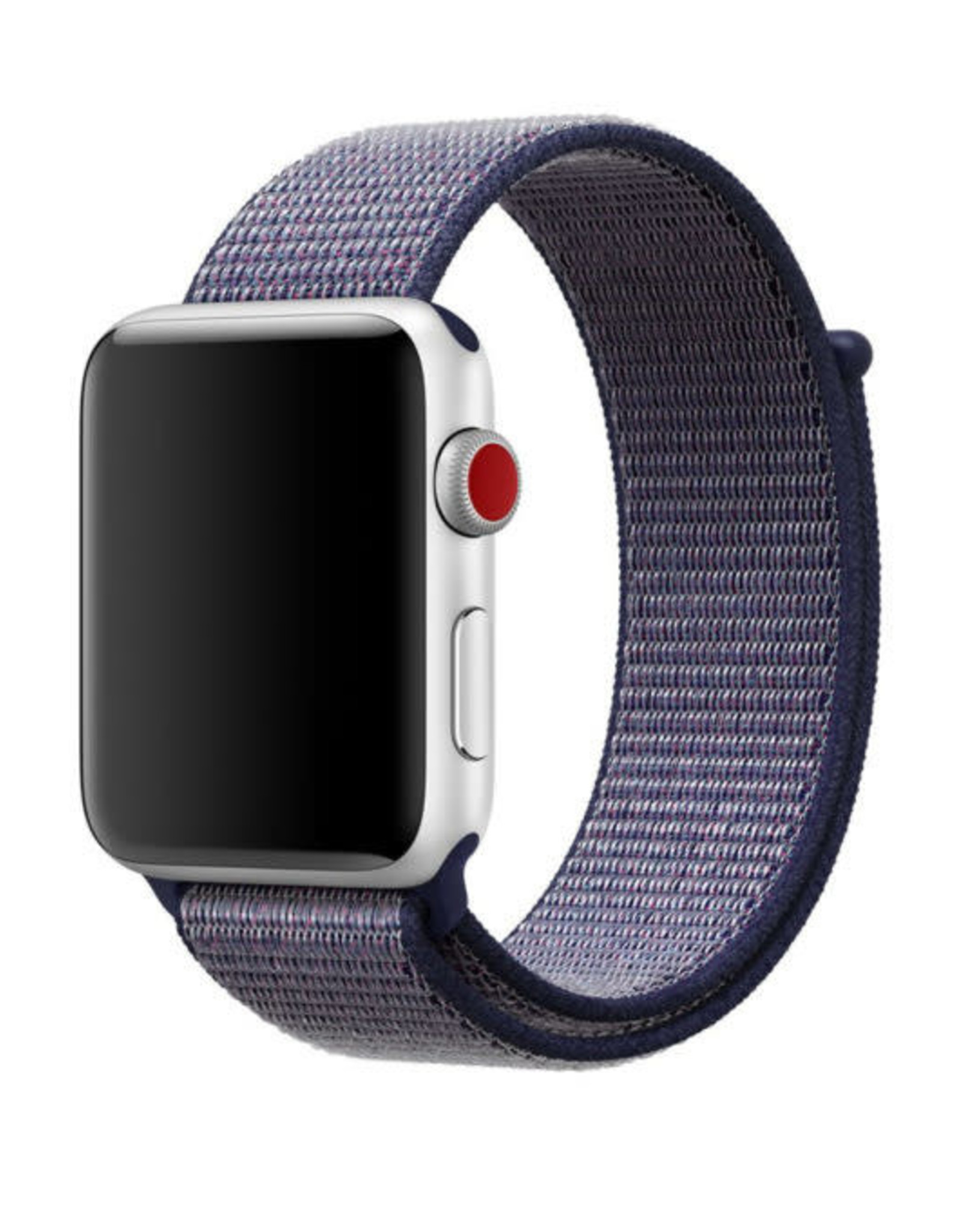 StrapsCo | Nylon Band For iWatch 38mm/40mm Blue/Grey A.NY3.5.7.38
