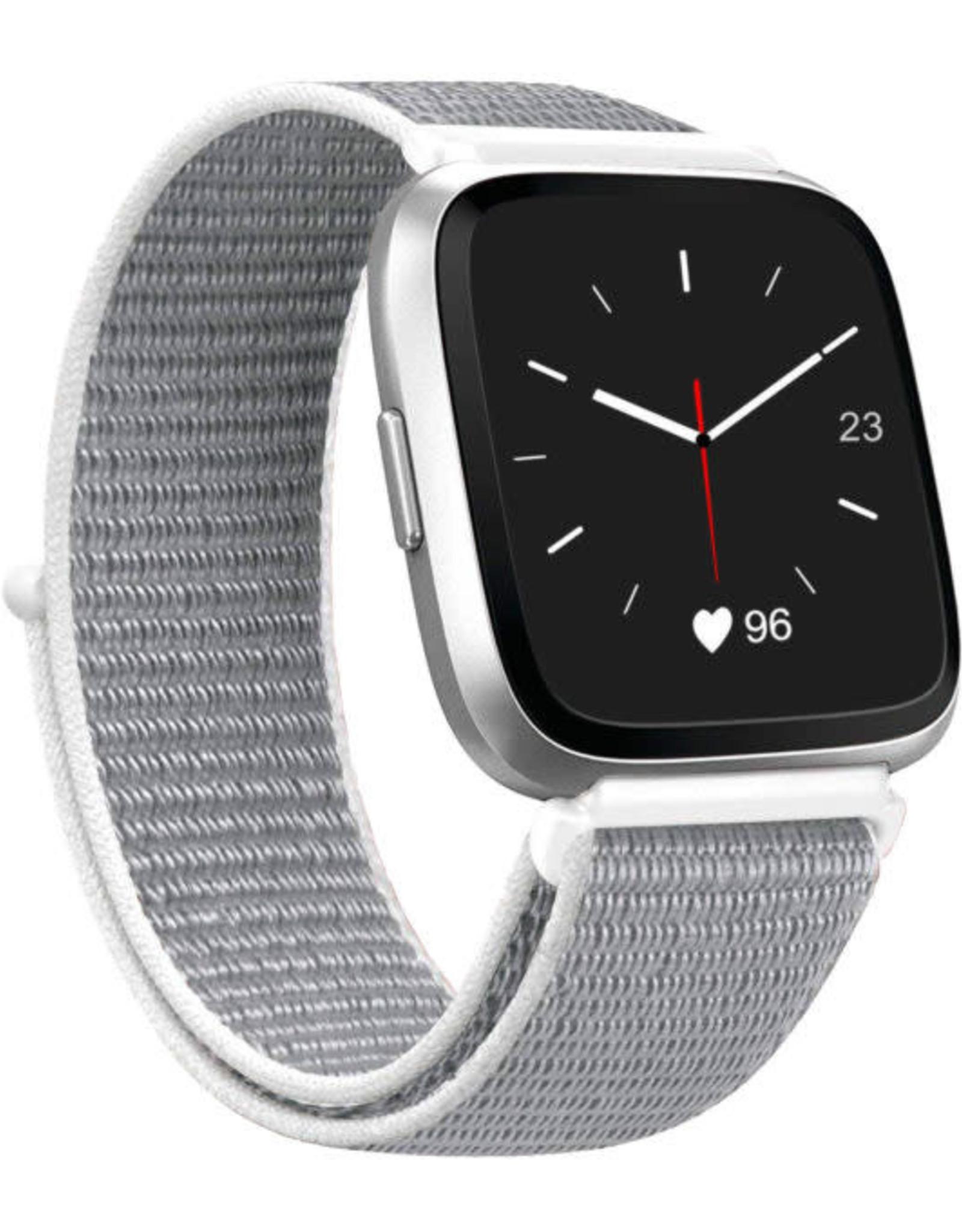 StrapsCo | Nylon Band For Fitbit Versa White FB.NY4.22