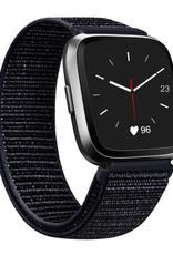 StrapsCo | Nylon Band For Fitbit Versa Black FB.NY4.1