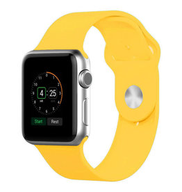 StrapsCo | Apple Watch Yellow Rubber Strap 38mm Small a.r1.10.38s