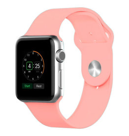 StrapsCo | Apple Watch Sand/Pink Rubber Strap 38mm Small a.r1.13c.38s