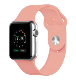 StrapsCo | Apple Watch Rose/Pink Rubber Strap 38mm Small A.R1.13A.38S