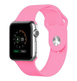 StrapsCo | Apple Watch Light/Pink Rubber Strap 38mm Small a.r1.13b.38s