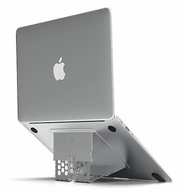 Majextand - ergonomic thinnest stand for MacBook/Laptop Stand, Silver MJX100-1