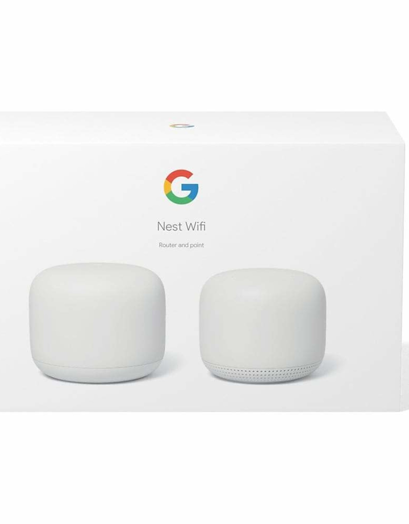 Google Google Nest Wifi Router with Point - 2 Pack GA00822-CA