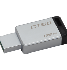 Kingston Kingston 128GB USB 3.0 DATATRAVELER 50 BLK RETAIL DT50/128GBCR