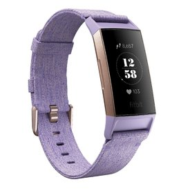 Fitbit Fitbit Charge 3 SE, Rose Gold Aluminum Case with Purple Band FB410RGLVCALA