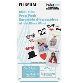 Instax Fujifilm | Instax Mini Instant Film - Prop Pack (30 Exposures + 10 Props with tape and sticks)