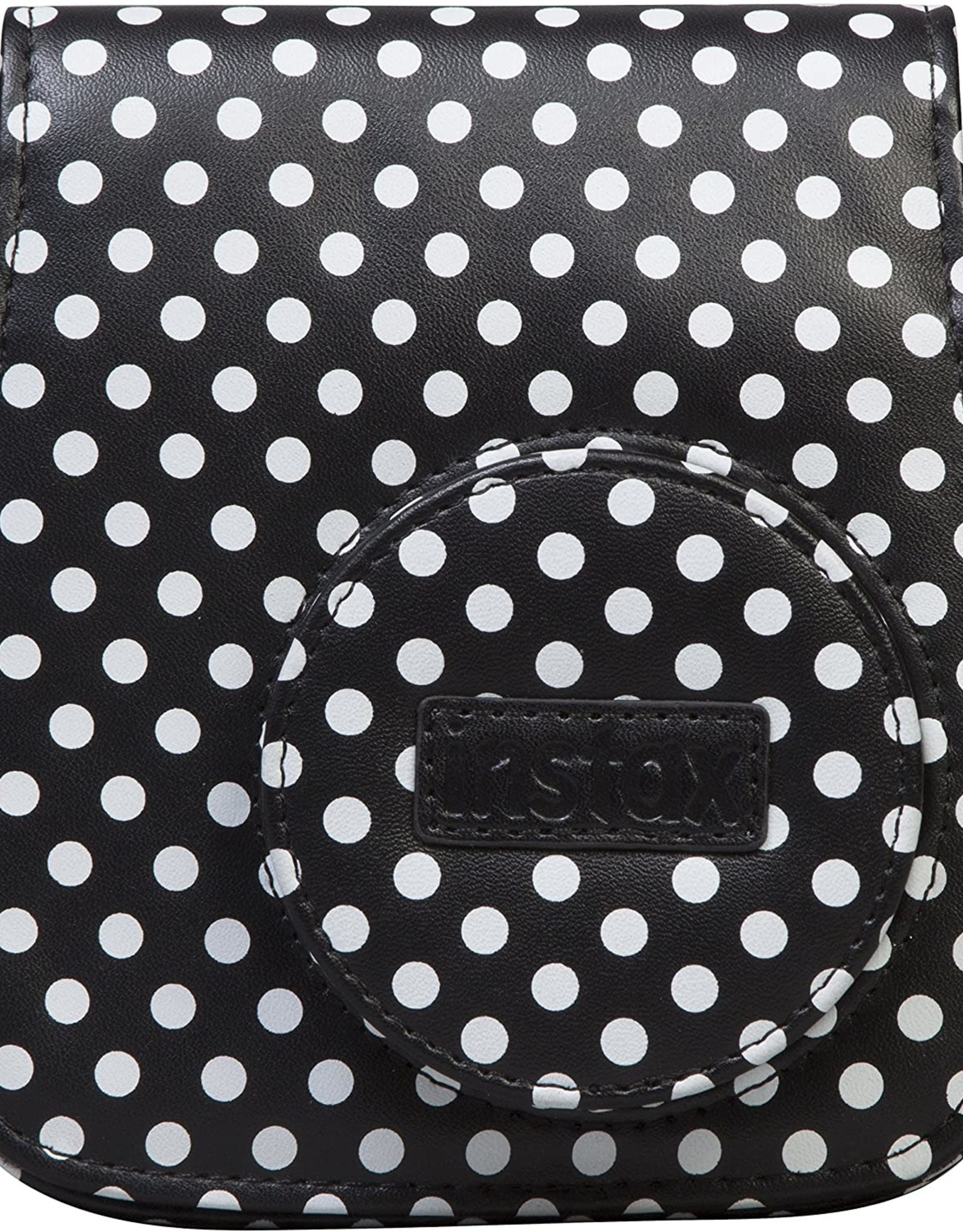 "Instax Fujifilm | Instax Mini 9 ""Groovy Case""  - Black/White Polka Dot (Also Fits Mini 8)"