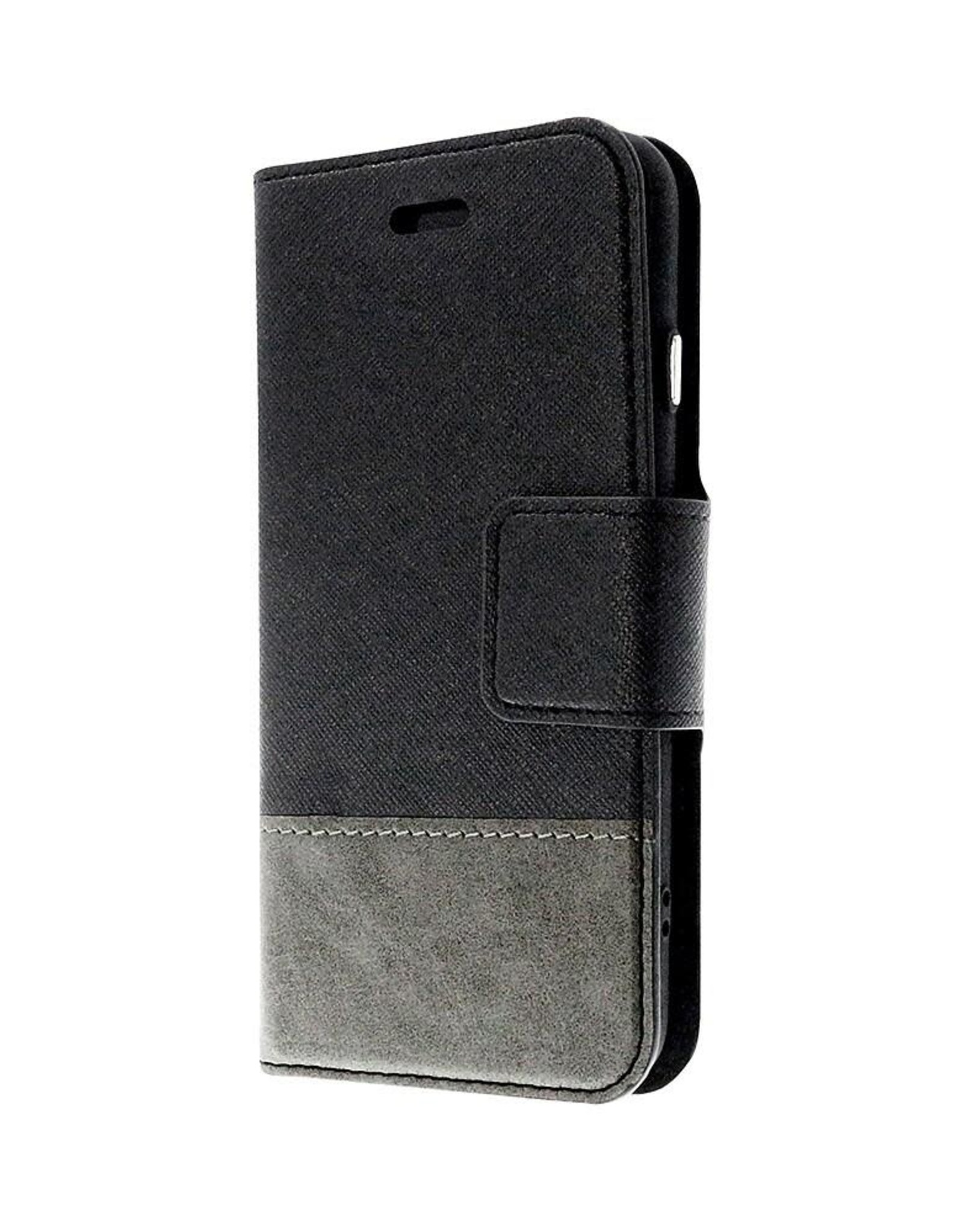Caseco Caseco | Broadway 2-in-1 RFID Shield Folio Case - iPhone SE Black CC-BD-iPSE-BK