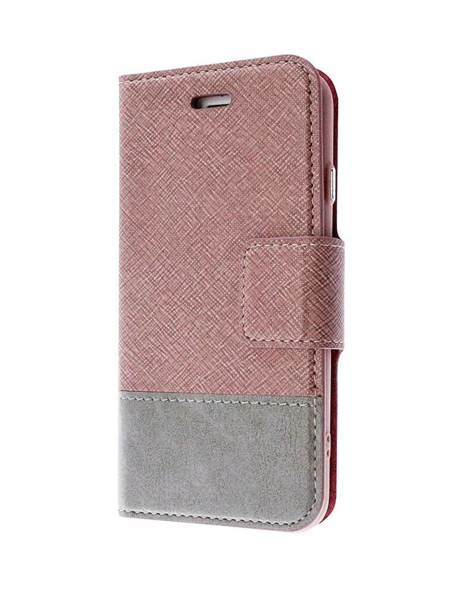 Caseco Caseco | Broadway 2-in-1 RFID Shield Folio Case - iPhone SE Rose Gold CC-BD-iPSE-RG