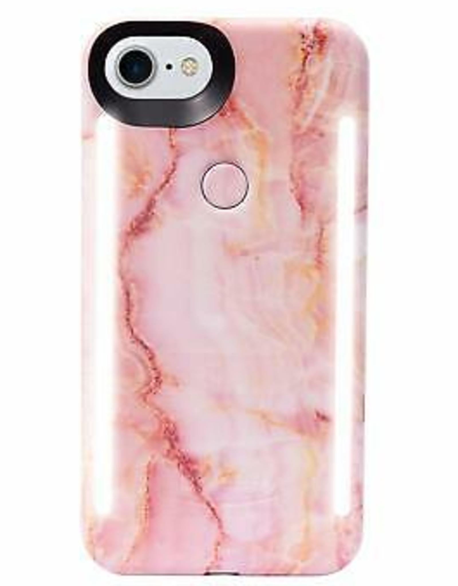 LuMee | iPhone 8/7/6/6s Duo Illuminating Case Pink Quartz | LM-LD-IP8-PQZ