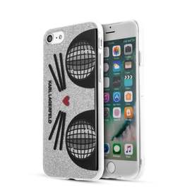 K-KOCKTAIL SILICONE CASE IPHONE 7 GLITTER  SILVER