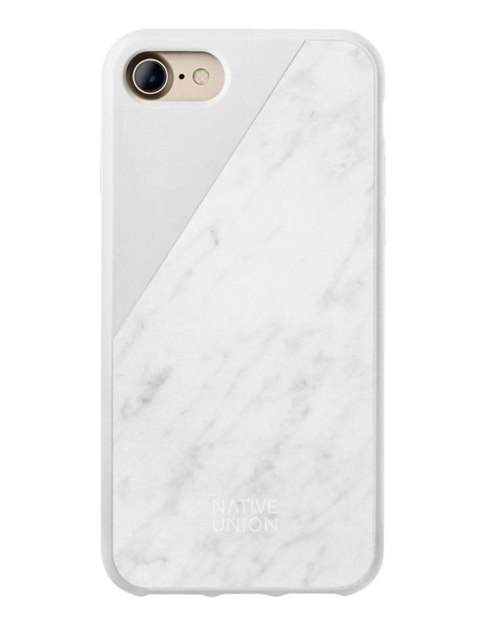 Native Union Native Union   iPhone 8/7/6/6s+ Clic Marble White/Gold   CLIC-WHT-MBMT-7P
