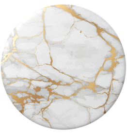 Popsockets Popsockets |  PopTop (Swappable Top Only) Gold Lutz Marble 123-0086