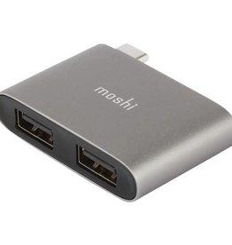 Moshi Moshi - USB-C to Dual USB-A Adapter Dark Grey 117-0542