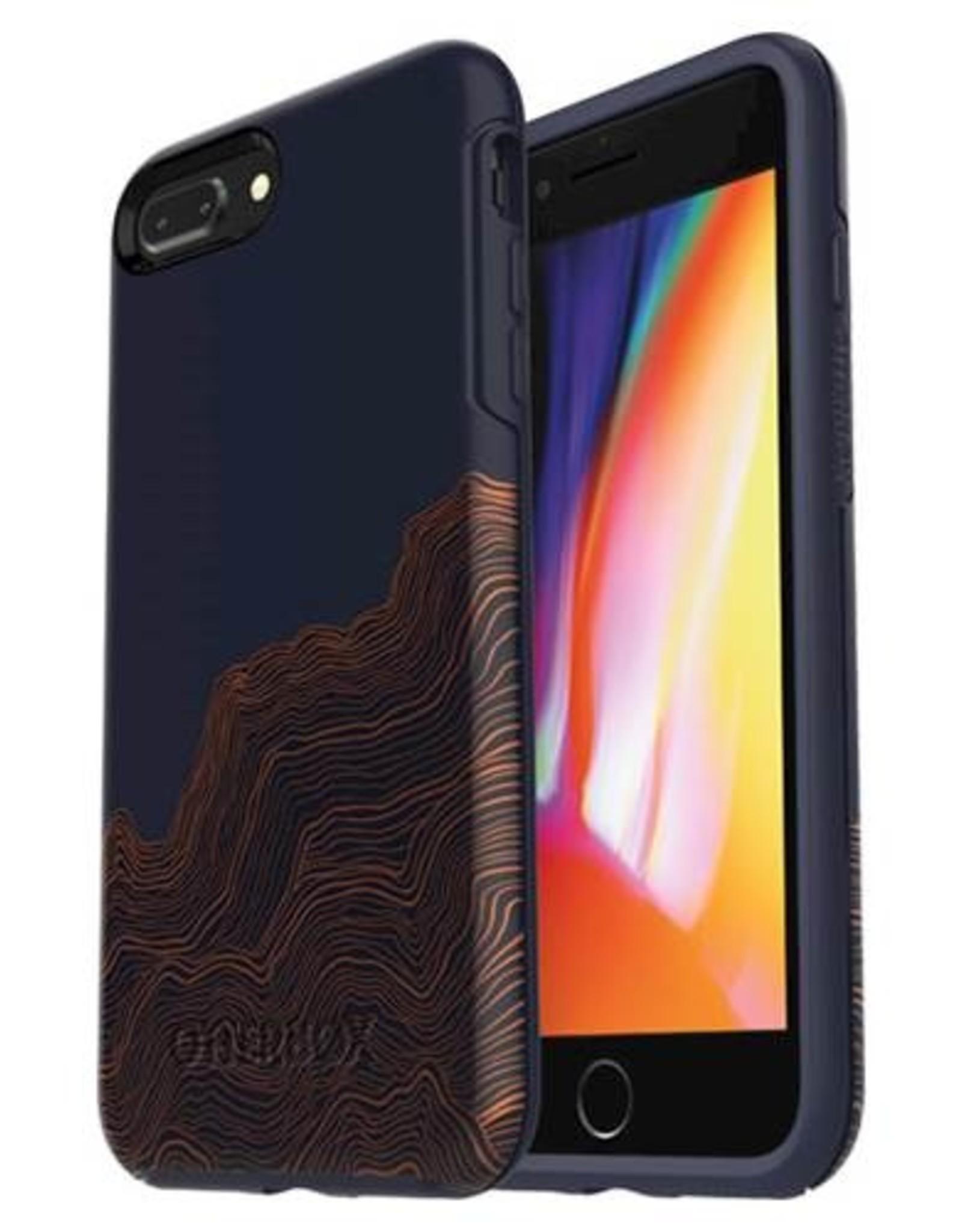 Otterbox iPhone 8 Plus/7 Plus OtterBox Blue/Brown (Good Vibrations) Symmetry Series case 15-02350