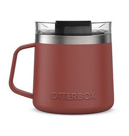 Otterbox Otterbox | Stainless Steel Red/Silver (Baked Mud) Elevation 14oz Mug w/ Closed Lid 15-06559