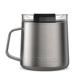 Otterbox Otterbox | Stainless Steel Brown/Silver (Frappe) Elevation 14oz Mug w/ Closed Lid 15-06560