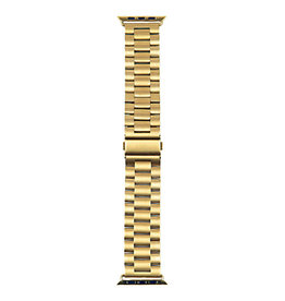 StrapsCo | iWatch 44mm Solid Stainless Steel Yellow Gold Small