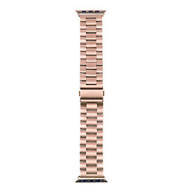 StrapsCo | iWatch 44mm Solid Stainless Steel Rose Gold Small