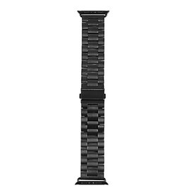 StrapsCo | iWatch 44mm Solid Stainless Steel Black Small