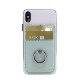 Caseco Phone Ninja with Ring - Smartphone Wallet- Teal CC-PNR-TL