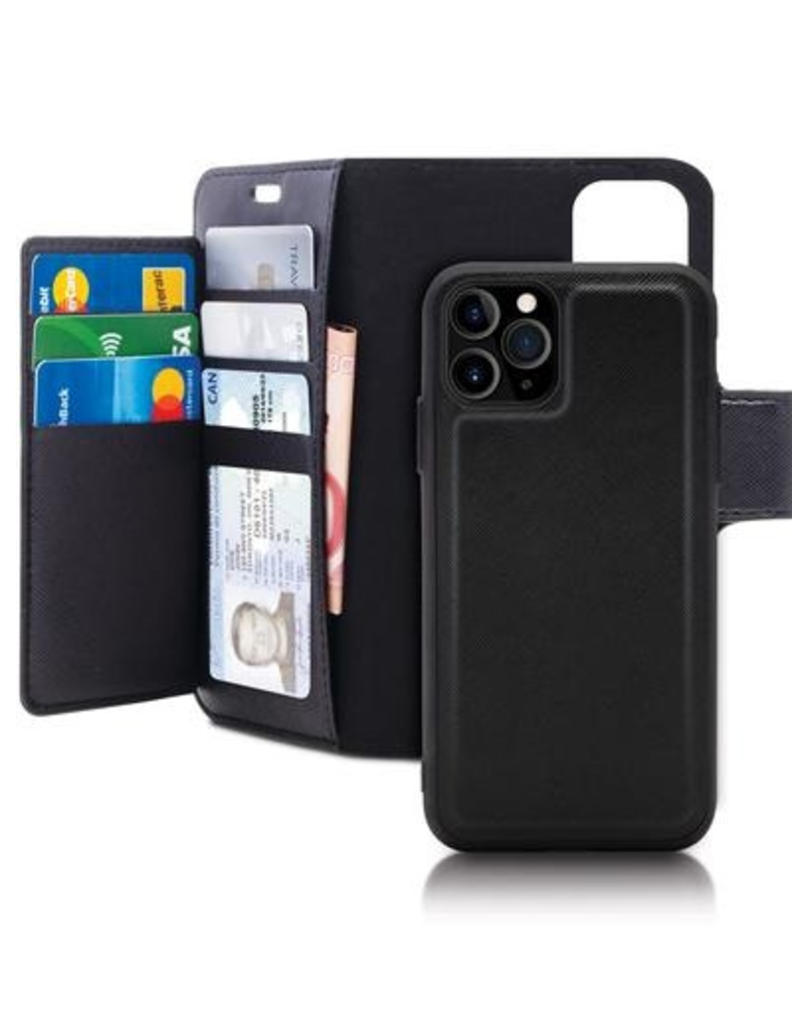 Caseco Caseco | Sunset Blvd 2-in-1 RFID Blocking Folio Case - iPhone 11 Black C3507-01