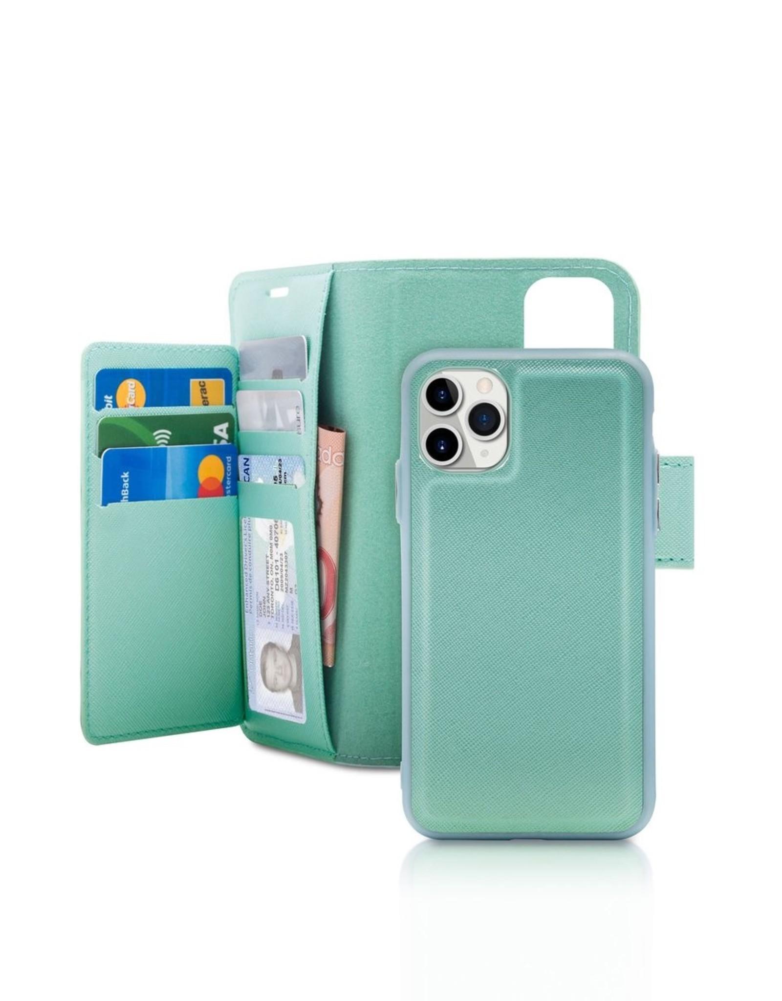 Caseco Caseco   Sunset Blvd 2-in-1 RFID Blocking Folio Case - iPhone 11 Pro Turquoise C3506-01