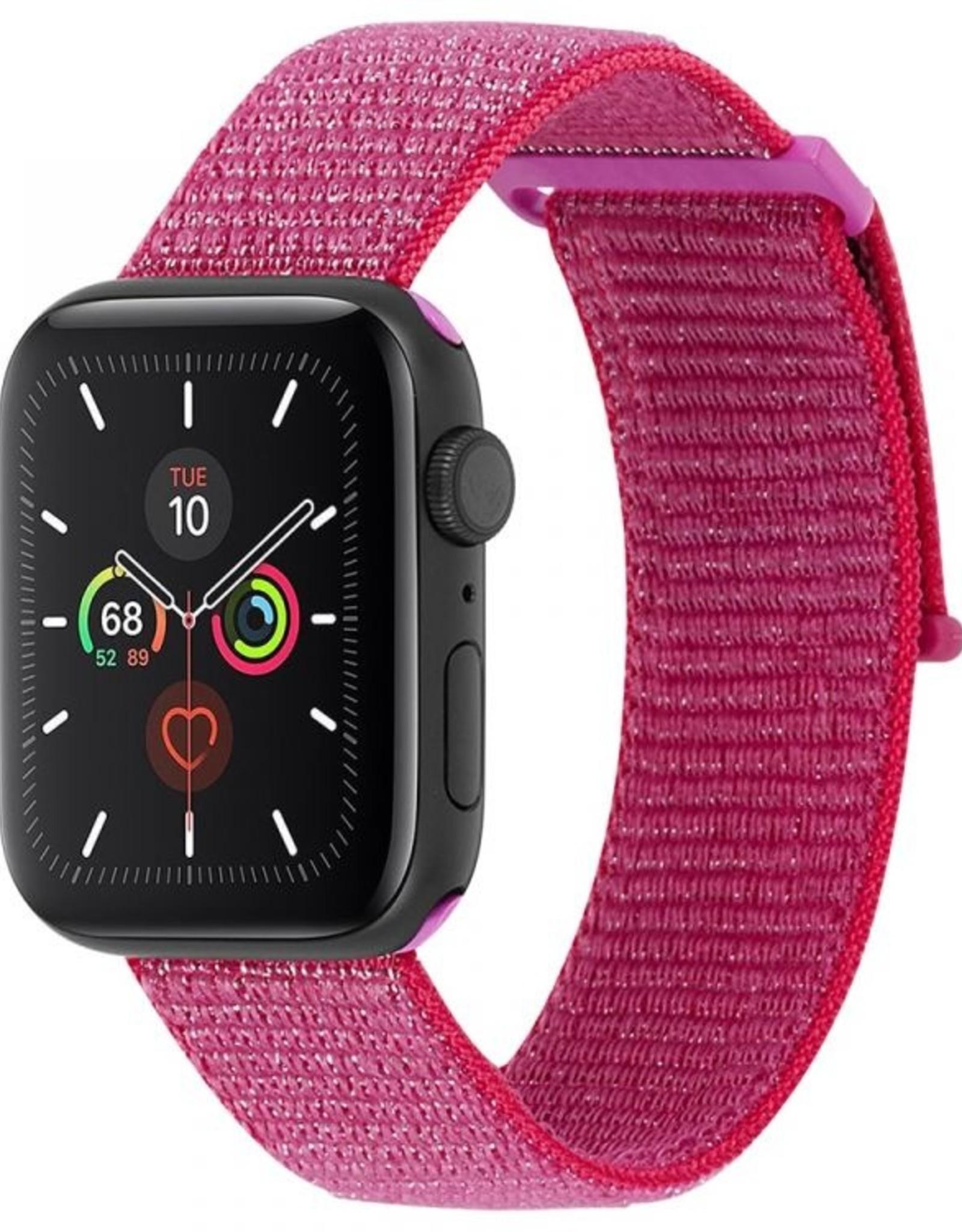 Case-Mate Case-Mate   Apple Watch (Series 1,2,3,4,5) 38/40mm Metallic Pink Nylon Band15-06495