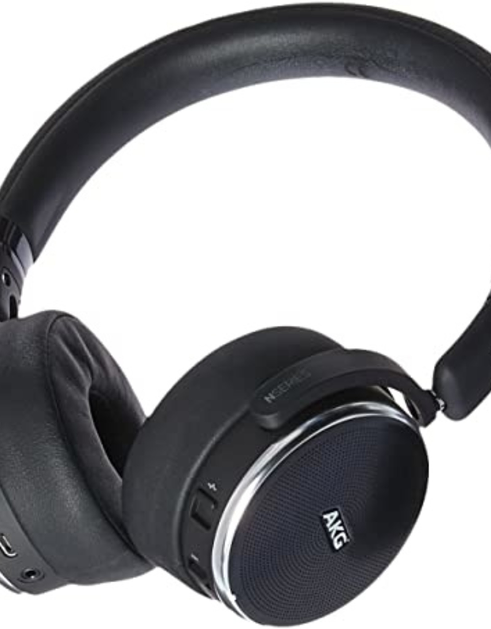 AKG AKG N60 | Headphones with mic - on-ear - Bluetooth - wireless - active noise canceling - 3.5 mm jack - noise isolating Black
