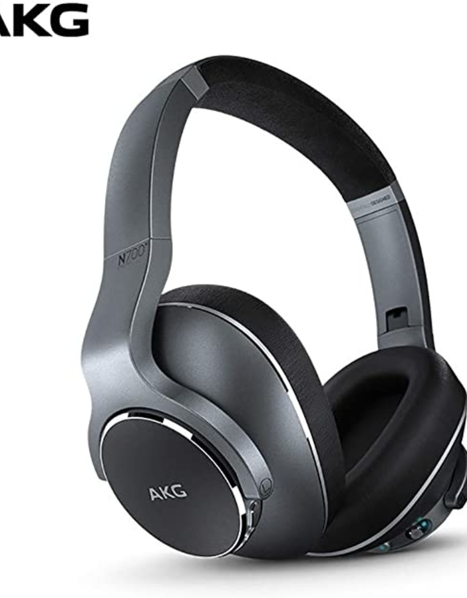 AKG AKG N700NC | Headphones with mic - on-ear - Bluetooth - wireless - active noise canceling - 3.5 mm jack - noise isolating