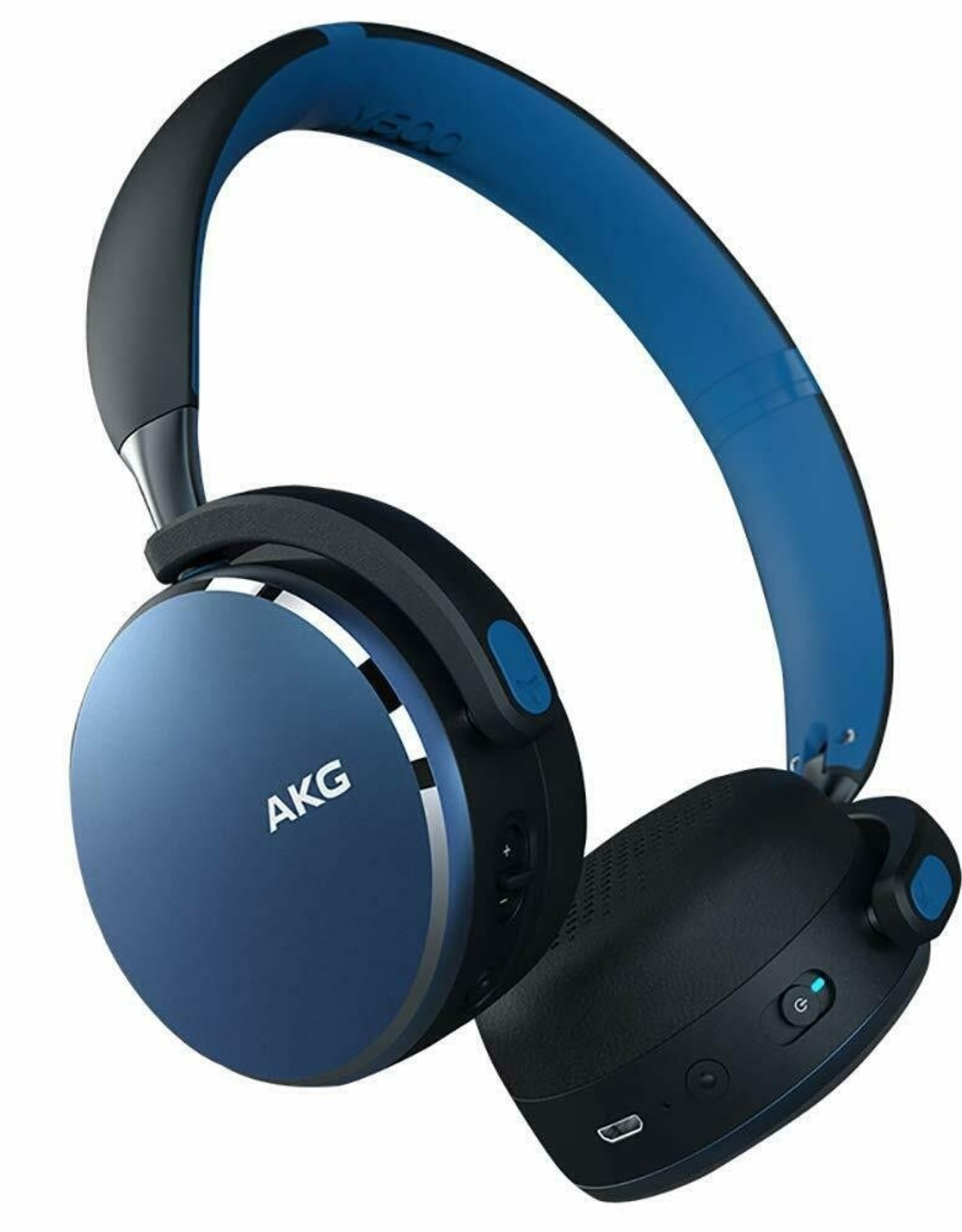AKG AKG Y500 | Headphones with mic - on-ear - Bluetooth - wireless - blue