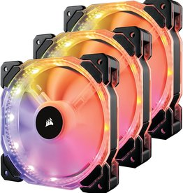 Corsair Corsair | HD120 RGB LED High Performance 120mm PWM Fan - Three Pack with Controller CO-9050067-WW