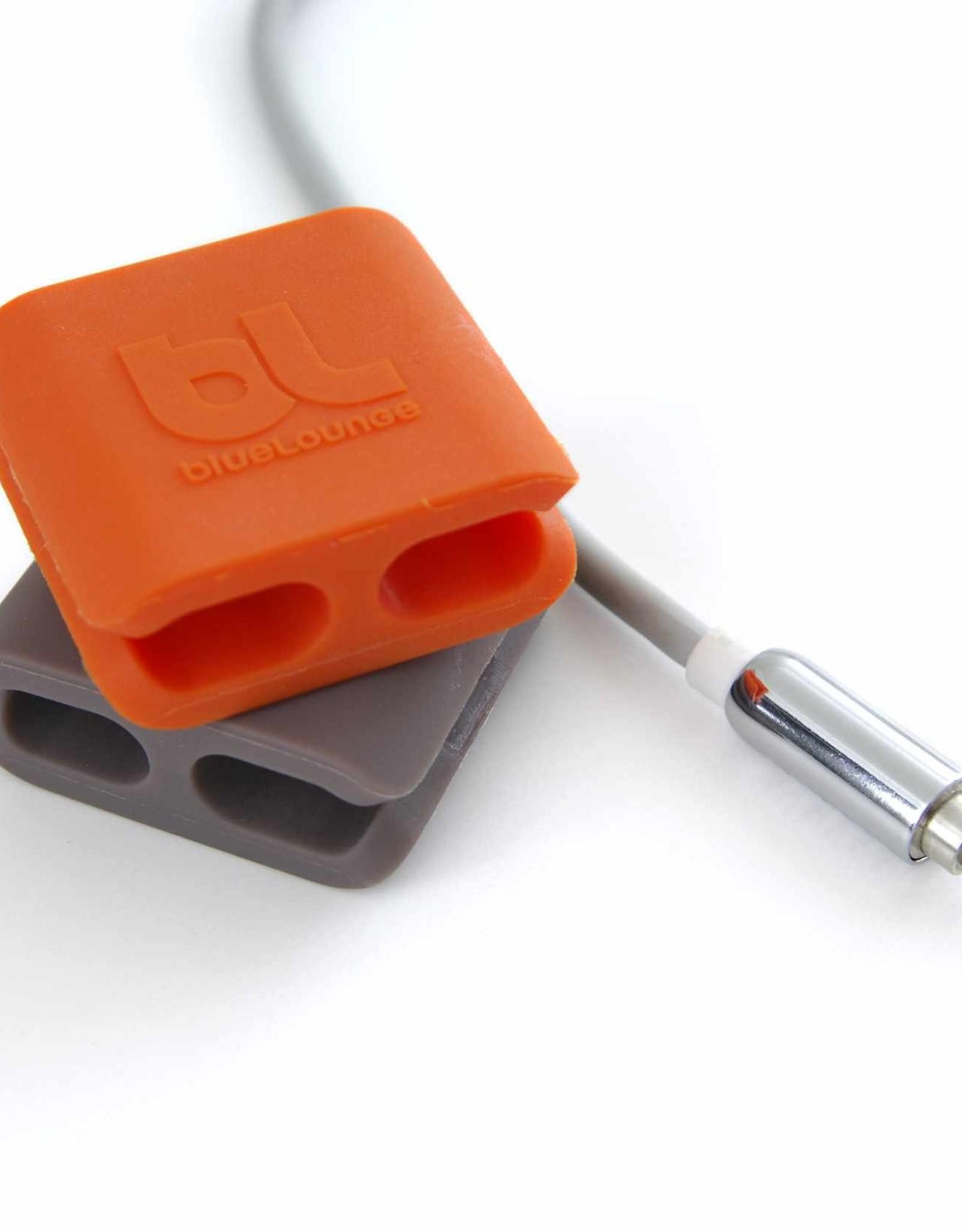 Bluelounge - CableClip Medium Orange/Grey 111-1019