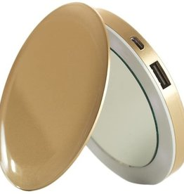 /// Hyper Pearl Compact Mirror Battery Gold